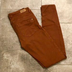 Zara copper skinny jeans